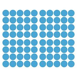 LiteMark 2 Inch Baby Blue Removable Adhesive Dot Decal Stick
