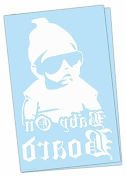 "Luke Duke Decals Baby On Board G funny car window 8"" DECAL/S"