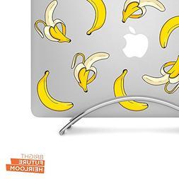 "Bananas - Set of 8 - 3"" printed vinyl decal set - for MacBoo"