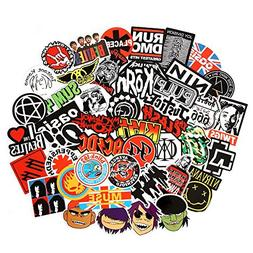 Band Stickers  Rock and Roll Music Stickers Pack Vinyl Water