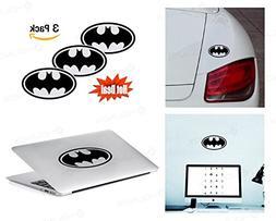 PACK of 3 Batman Sticker Decal for Macbook, Laptop ,Car Wind