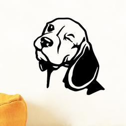 Beagle <font><b>Wall</b></font> Decal For Car <font><b>Lapto