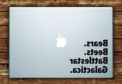 Bears Beets Battlestar Galactica Quote Laptop Decal Sticker