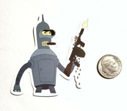 Futurama Bender Decal Sticker Waterproof Removable Laptops T