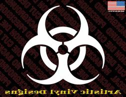 Biohazard vinyl decal sticker for wall, car, laptop many col