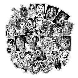 60 Black White Tattoo Girls Sticker Bomb Punk Skull Laptop G
