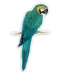 Blue and Yellow Macaw Car Laptop Phone Vinyl Sticker  - SELE