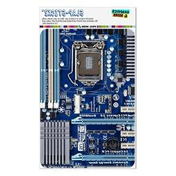 Graphics and More Blue Computer Motherboard Processor CPU Ho