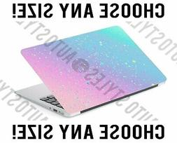 Faux Ombre Glitter Blue Pastel Pink Laptop Skin Decal Sticke