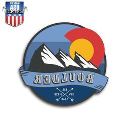 Boulder Colorado Travel Sticker Decal Phone Laptop Car Windo