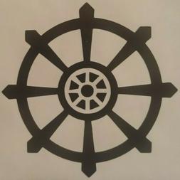 Buddhist Dharma Wheel Vinyl Sticker Decal home laptop choose