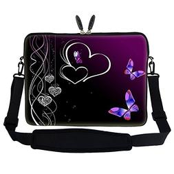 17 inch Butterfly Heart Design Laptop Sleeve Bag Carrying Ca