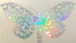 Butterfly Mini Fancy Rainbow Holographic Car Decal Sticker L