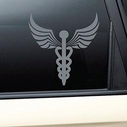 Caduceus Snake Medical Emblem Vinyl Decal Laptop Car Truck B