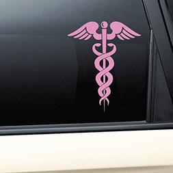 Caduceus Snake Medical Emblem Vinyl Decal Laptop Car Truck B