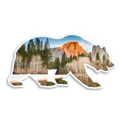California Bear Half Dome Yosemite | Vinyl Sticker Decal for