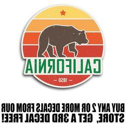 California Bear Sunset Sticker Decal Phone Laptop Car Window