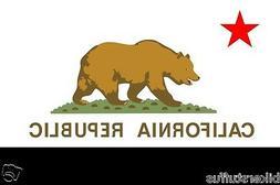 CALIFORNIA FLAG BUMPER STICKER TOOLBOX STICKER LAPTOP STICKE