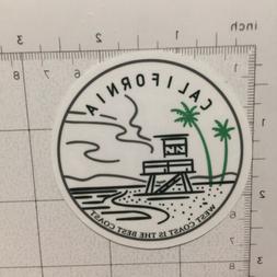 California Laminated Journal Sticker - Travel Laptop - West