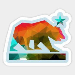 California State Bear Republic Geometric Decal Decor Bumper