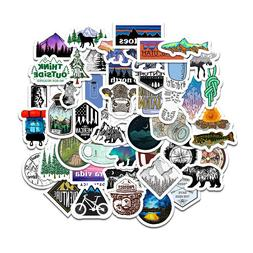 50 Camping Travel Stickers Adventure Outdoor Wilderness Lapt