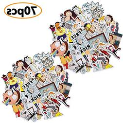 70 Pcs Car Stickers, Decals For Skateboard and Laptop
