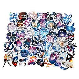 Car Stickers Pack 100pcs FNGEEN Harajuku Galaxy Laptop Stick