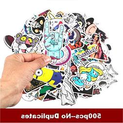 500 pack KJ Home Car Stickers Motorcycle Bicycle Luggage Lap