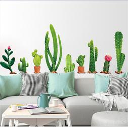 Cartoon Cactus Potting Sticker Laptop Travel Luggage Wall De