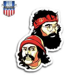 cheech and chong cool fun sticker decal