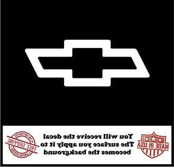 Chevrolet Bowtie Logo Sticker Choose Color Size Chevy Truck