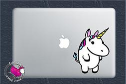 Colorful Fat Cute Unicorn 4 Inch Color Vinyl Decal