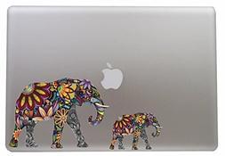 Colorful Flower Elephant - 5 Inch - Apple Macbook Laptop Dec