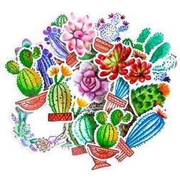 Colorful Stickers & Sticker Machines Cactus For Your Laptop,