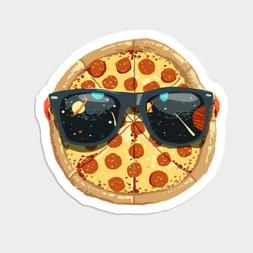 Cool Pizza Pie with Sunglasses Space Vinyl Decal Decor Stick