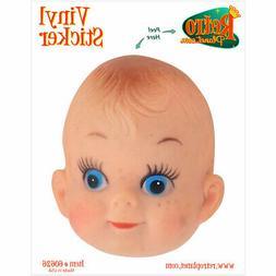 Creepy Doll Head Vacant Stare Vinyl Sticker Car Bumper and L