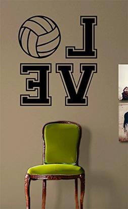 Crystal Emotion Volleyball Love Version 2 Sticker Wall Art V
