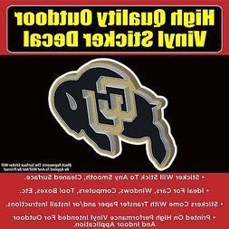 CU Buffalos Buff Black Gold Vinyl Car Window Laptop Bumper S