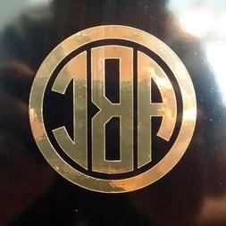 Custom Circle Monogram Initials Vinyl Decal/Sticker Cars YET