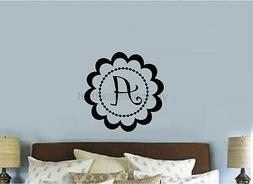Custom Monogram Vinyl Decal Sticker Wall Lettering Teen Room