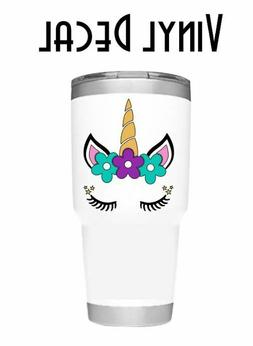 """Cute and Pretty Unicorn 3"""" Decal Sticker for Cup, Tumbler, M"""