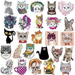 cute cat sticker sheet cartoon
