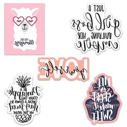 Cute Girl Inspirational/Motivational Quote Aesthetic Vinyl S