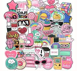 Floranea 105 Pcs Cute Girl Stickers Vinyl Lovely Pink Adorab
