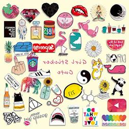 Cute Laptop Stickers for Girl, Cartoon Waterproof Vinyl Wate