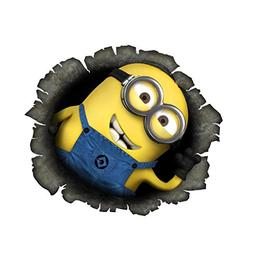 Cute Minions 3D CreativeStickers0216 Set Of Two  Stickers ,