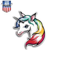 Cute Rainbow Unicorn Girly Sticker Decal Phone Laptop Car Wi