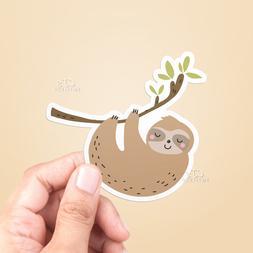 Cute Sloth Vinyl Sticker - Laptop Sticker / Water Bottle Sti