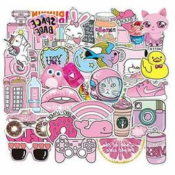 Cute Stickers for Water Bottle Girls, Pink Vinyl Decal Cool