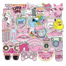 cute stickers for water bottle girls pink